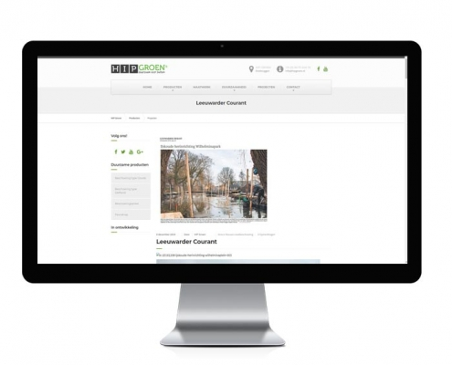 HIP GRoen WordPress website