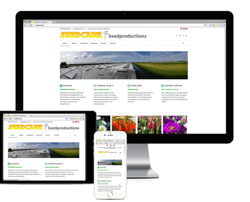 Redesign WordPress website Seedcare.eu