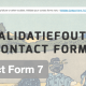 Contact Form 7 validatiefouten