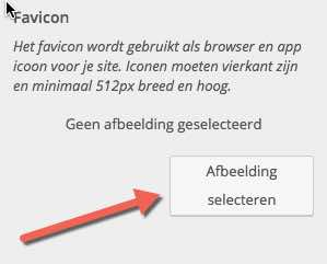 Favicon invoegen in WordPress website