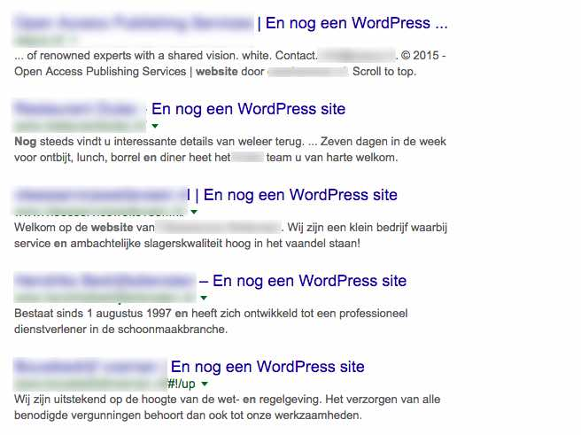 Nog een WordPress website