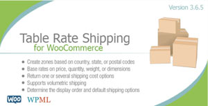 Table Rate Shipping Woocommerce