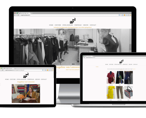 Responsive WordPress website AvL couture den Haag