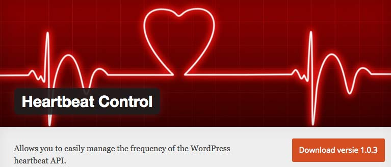 Heartbeat Control WordPress