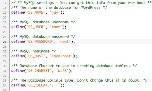 Database WP-Config.php