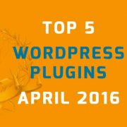 WordPress plugins april 2016
