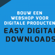 Easy Digital Downloads Webshop voor WordPress