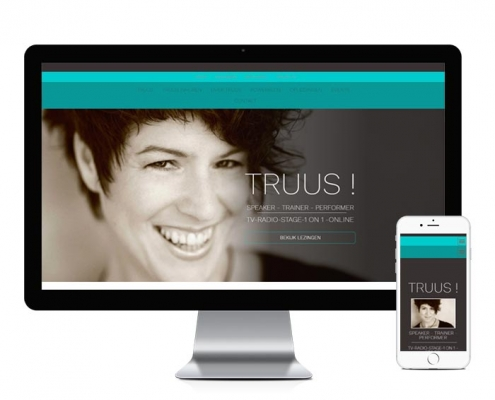 WordPress website Truus Druyts homepage