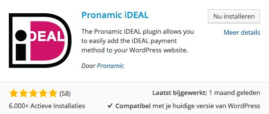 Pronamic iDEAL plugin WordPress