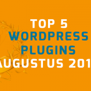 WordPress plugins augustus 2016