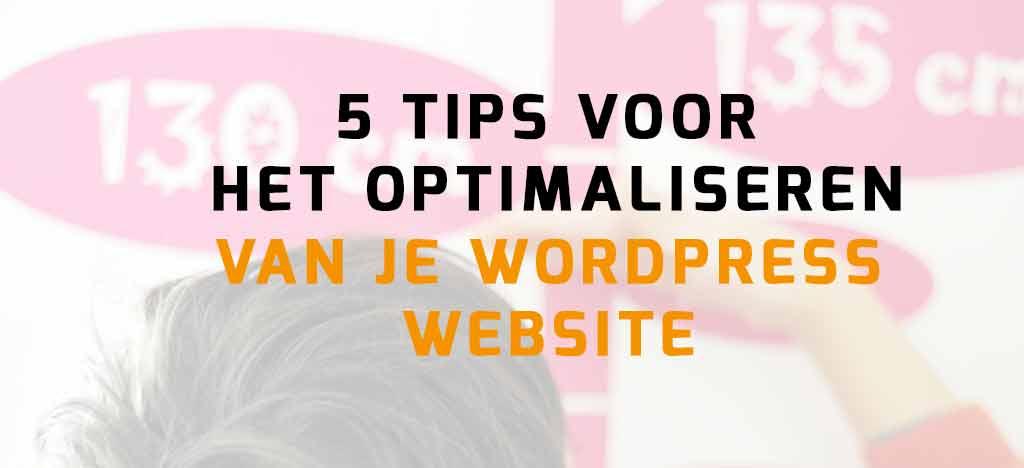 WordPress website optimalisatie