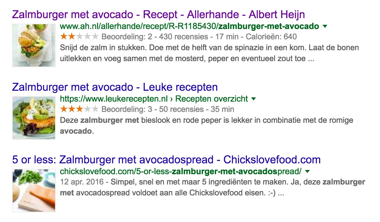 Recipe Google Structured Data
