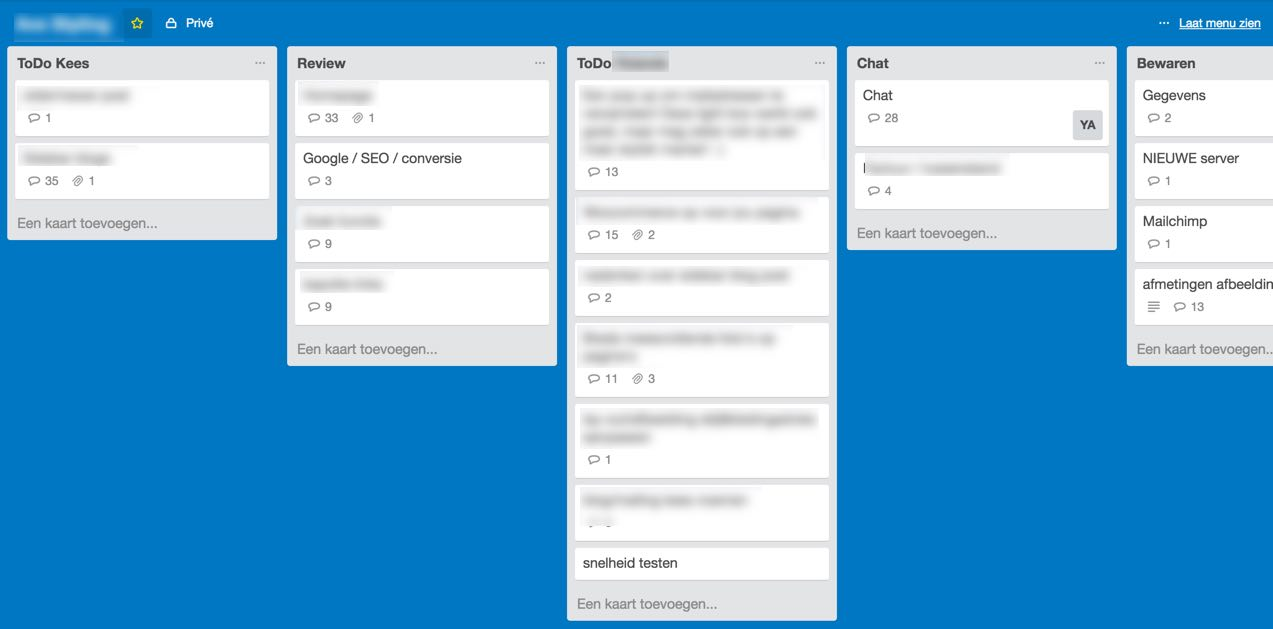 Trello Board webdesign