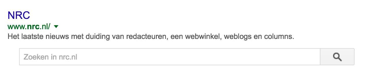 Zoekbalk schema.org