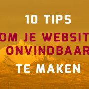10 tips voor onvindbare WordPress website