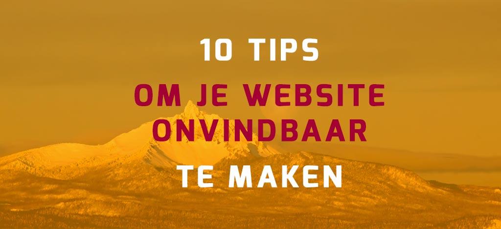 10 tips voor onvindbare WordPress website