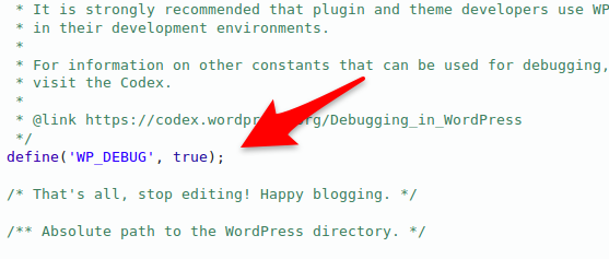 WP_Debug WordPress