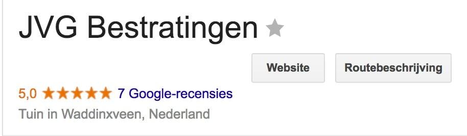 Reviews Google Mijn Bedrijf