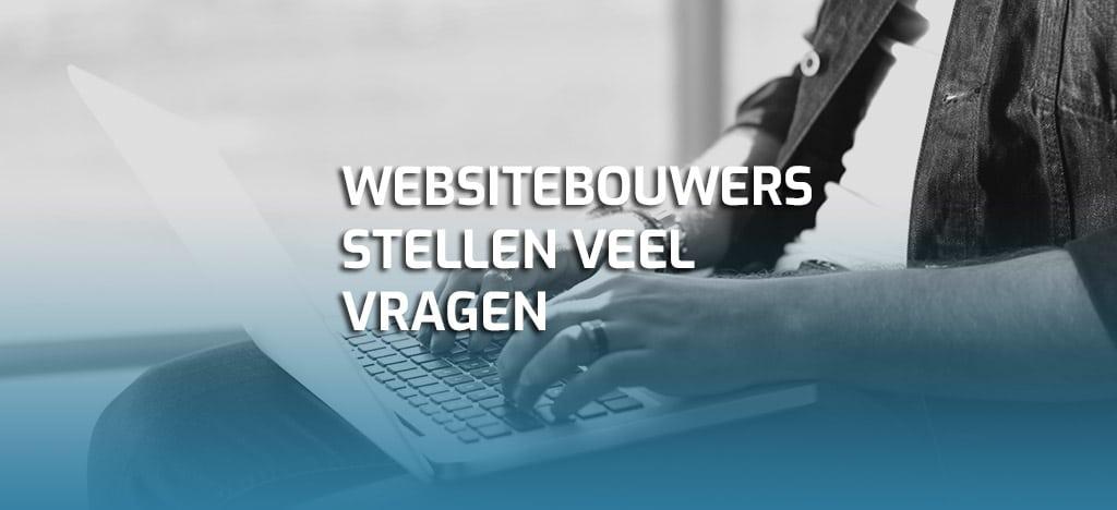 websitebouwers stellen vragen
