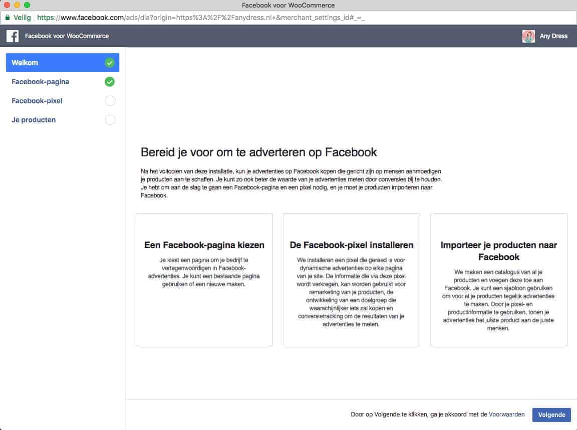 Facebook for WooCommerce installeren