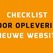 Checklist oplevering WordPress website