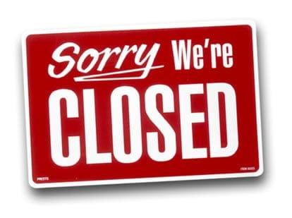 Webwinkel vakantie gesloten