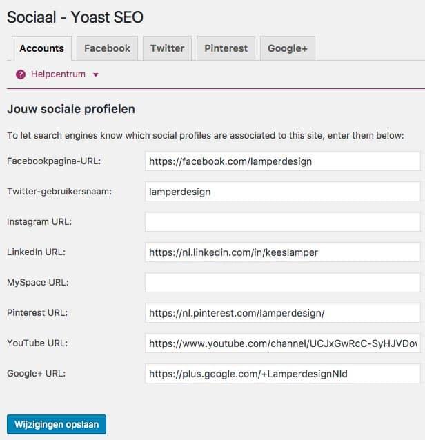 Yoast SEO Sociaal tabblad