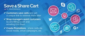 Save cart WooCommerce
