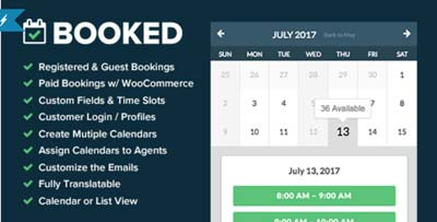 Booked WordPress plugin