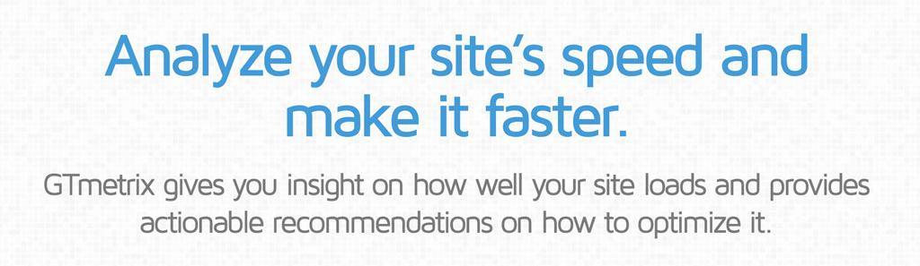 Gtmetrix test je website