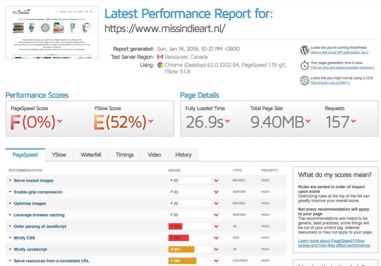 Snelheid van je webshop optimaal?