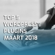 Top 5 WordPress plugins maart 2018