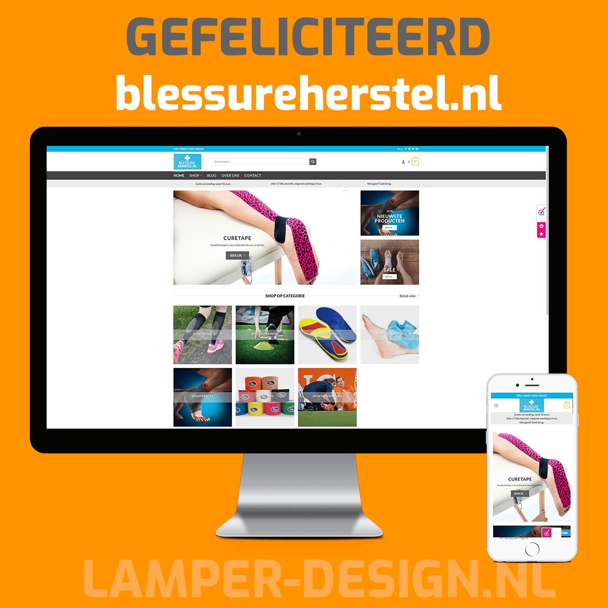 WooCommerce webshop gemaakt voor Blessureherstel.nl