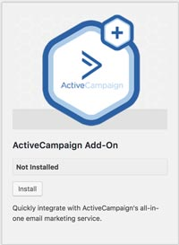 Gravity Forms addon ActiveCampaign