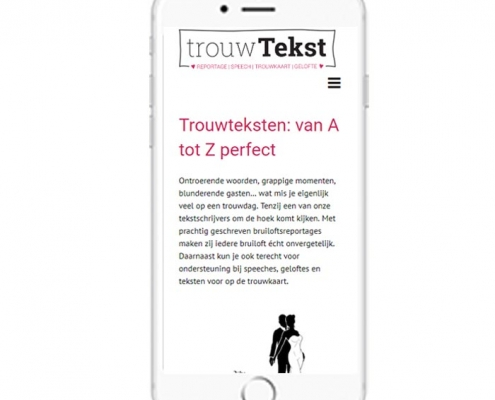 WordPress website voor trouwteksten