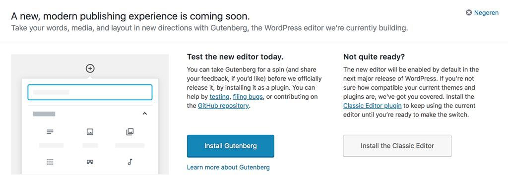 Gutenberg in WordPress 5