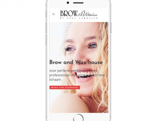 WordPress website Amsterdam Browandwaxhouse
