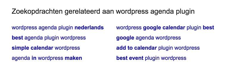 Zoekwoordenonderzoek met Google