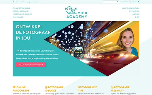 Vinkacademy Redesign