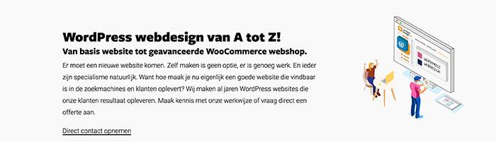 Dienstenpagina website structuur
