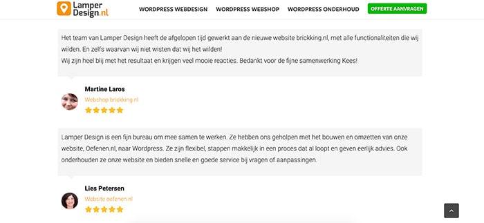 Referenties website structuur