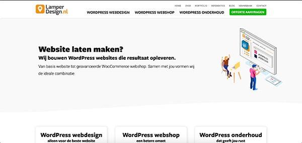 Website Structuur homepage