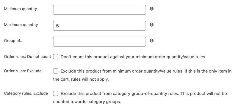 Min/Max Quantity voor WooCommerce